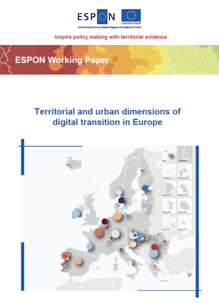 ESPON Working paper on Digital Transition